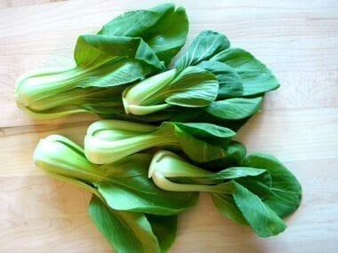 Chinese Vegetables: Green bok choy by thewoksoiflife.com