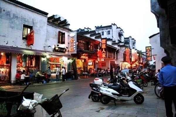 tunxi ancient street vendor