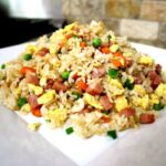Plate of Chinese banquet fried rice
