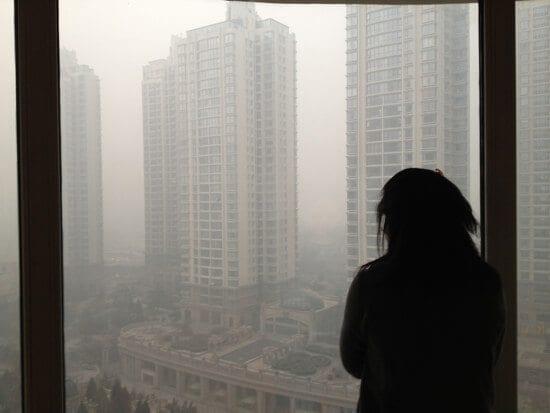 beijing smog view from window
