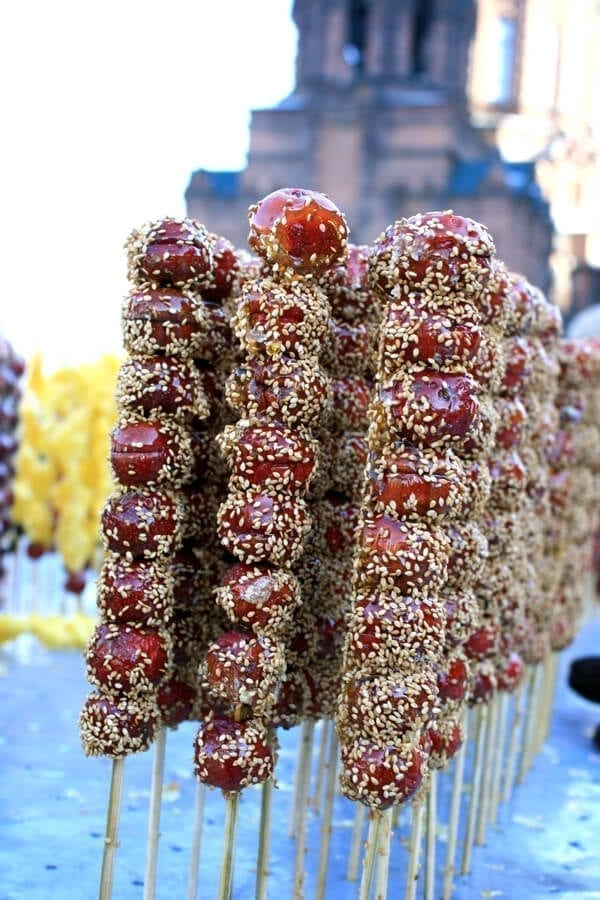 candied-fruit-sesame - Harbin Ice Festival and Freezing our Butts Off! by thewoksoflife.com