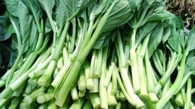 Chinese vegetables: choy sum, by thewoksoflife.com