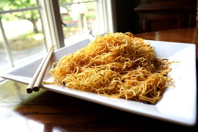 Simple, Spicy Pan-Fried Noodles by thewoksoflife.com