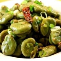 Stir Fried Fava Beans with Szechuan Peppercorns by thewoksoflife.com