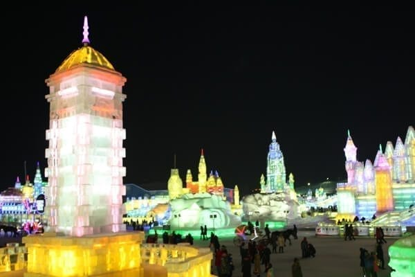 harbin-ice-snow-lights - Harbin Ice Festival and Freezing our Butts Off! by thewoksoflife.com