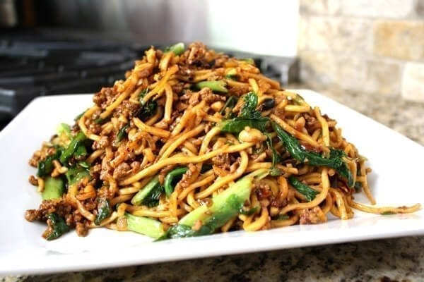 Plate of Kaitlin's special noodles