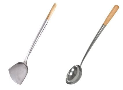 The 14 Inch Length Is A Good Size For Home Use And The Ones Pictured Below  Are 14u2033 Stainless Hand Tooled Wok Chuan U0026 Hoak (Spatula U0026 Ladle) Set.