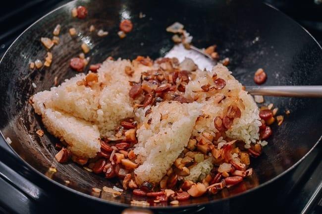 Stir-frying sticky rice, thewoksoflife.com