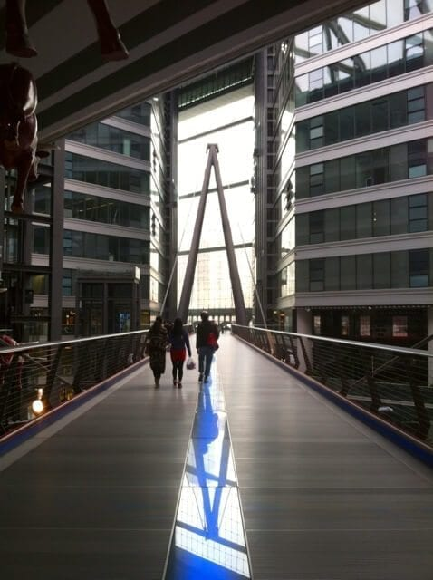A crazy cool shopping mall / art gallery in Beijing.