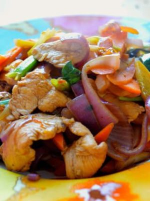 Chicken and Thai Basil Stir-Fry in 15 Minutes, by thewoksoflife.com