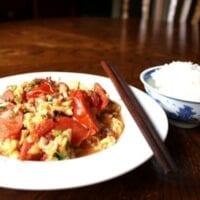 Chinese Stir-Fried Tomato and Egg, by thewoksoflife.com