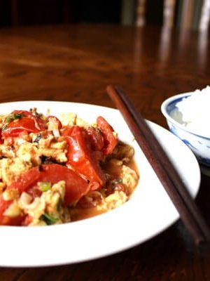 Chinese Stir-Fried Tomato and Egg, by thewoksoflife.com