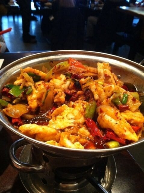 Snapshot of a yummy dinner I had in Philly.