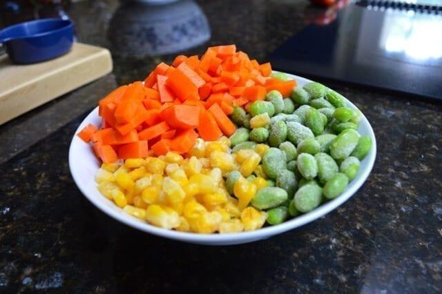 edamame carrot corn
