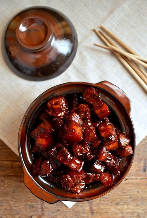 Chinese New Year Menu - the Compromise - hong shao rou - Shanghai braised pork belly - thewoksoflife