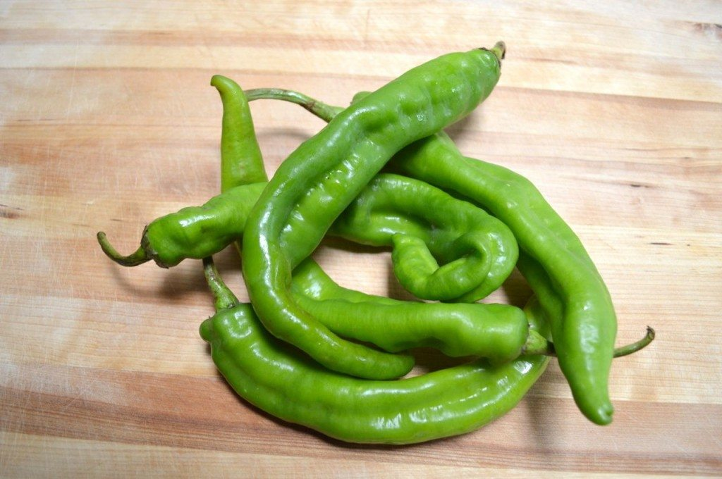 long hot green peppers