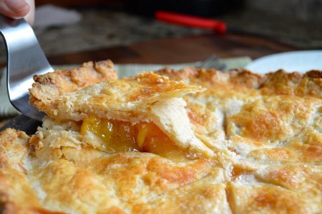 Peach Pie Recipe, by thewoksoflife.com