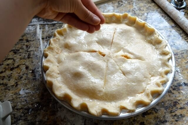 Peach Pie Recipe, by thewoksoflife.com