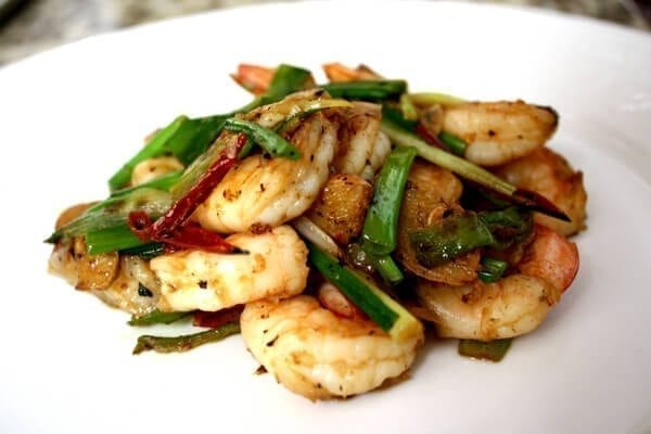 Easy Scallion and Ginger Shrimp Stir Fry