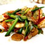 Scallion ginger shrimp