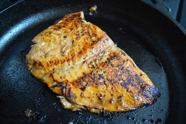 seared asian salmon