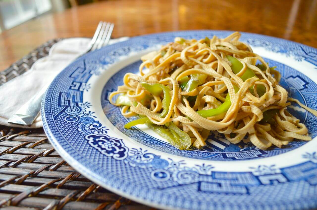spicy tofu  u0026quot noodles u0026quot  with chicken