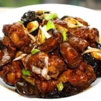 Chinese Braised Chicken with Mushrooms, by thewoksoflife.com