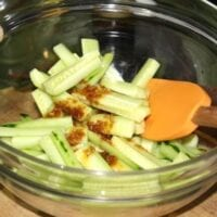 Quick cucumber Salad with Asian Dressing