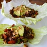 Turkey lettuce cups with avocado