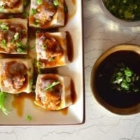 Hakka Style Chinese Stuffed Tofu by thewoksoflife.com