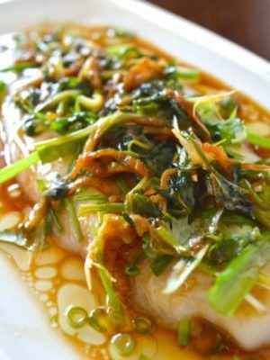Cantonese Steamed Fish by thewoksoflife.com