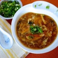"""Hot and Sour Soup - A Chinese Takeout """"Standard"""" by thewoksoflife.com"""