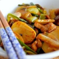 Stir-Fried Sticky Rice Cakes (Nian Gao)