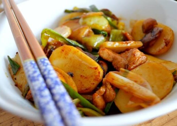 Stir-Fried Sticky Rice Cakes (Nian Gao) by thewoksoflife.com