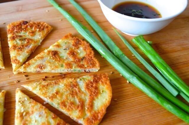 Savory Chinese Turnip Pancakes, by thewoksoflife.com