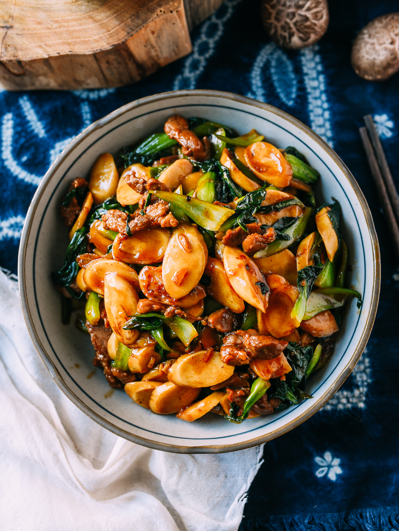 Chinese Stir-fried Rice Cakes