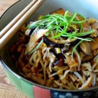 Easy Mushroom Noodle Stir fry, by thewoksoflife.com