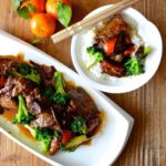 tangerine beef with broccoli