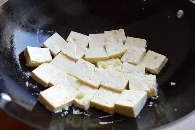 Quick and Easy Braised Tofu (Hongshao Dofu) by thewoksoflife.com