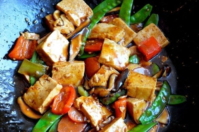 Quick and Easy Braised Tofu (Hongshao Dofu), by thewoksoflife.com