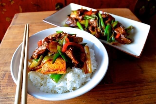 Scallion Ginger Beef and Tofu - The Woks of Life