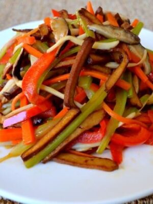 Vegetable Five Spice Tofu Stir-Fry,by thewoksoflife.com