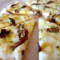 Wild Mushroom & Garlic White Pizza (AND Fool-proof Pizza Dough!)