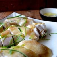 Cantonese Poached Chicken w/ Ginger Scallion Oil (Bai Qie Ji)