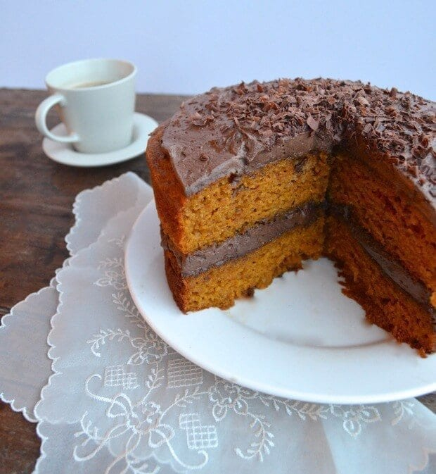 pumpkin mexican chocolate cake
