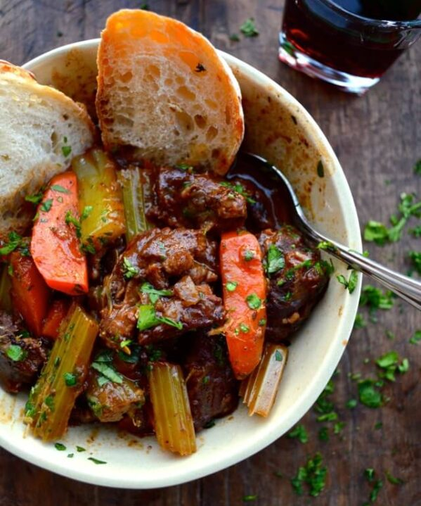 Beef Stew with lemon parsley gremolata