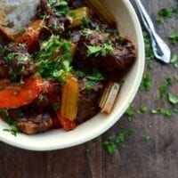 Beef Stew w/ Lemon Parsley Gremolata
