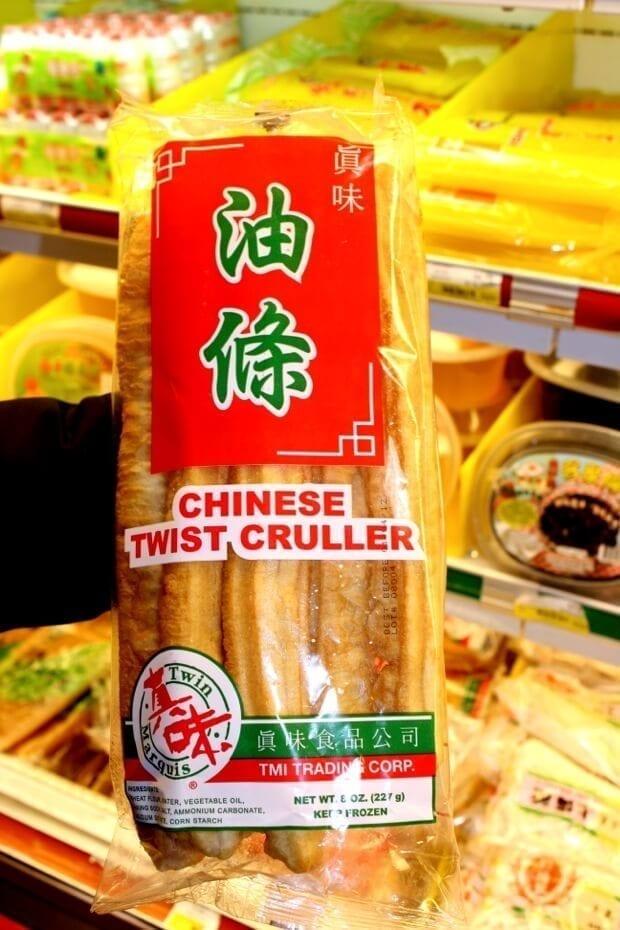 Savory Soy Milk Soup w/ Fried Dough (Dou Jiang) - chinese-cruller, by thewoksoflife.com
