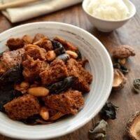 Hong Shao Kao Fu – Braised Wheat Gluten with Mushrooms