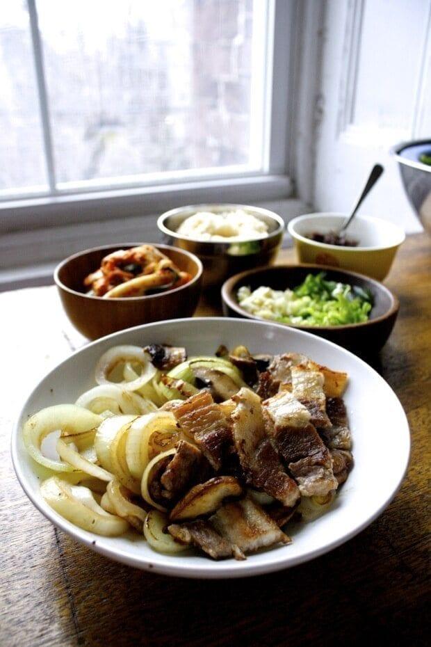 Quick Korean BBQ w/ Pork Belly